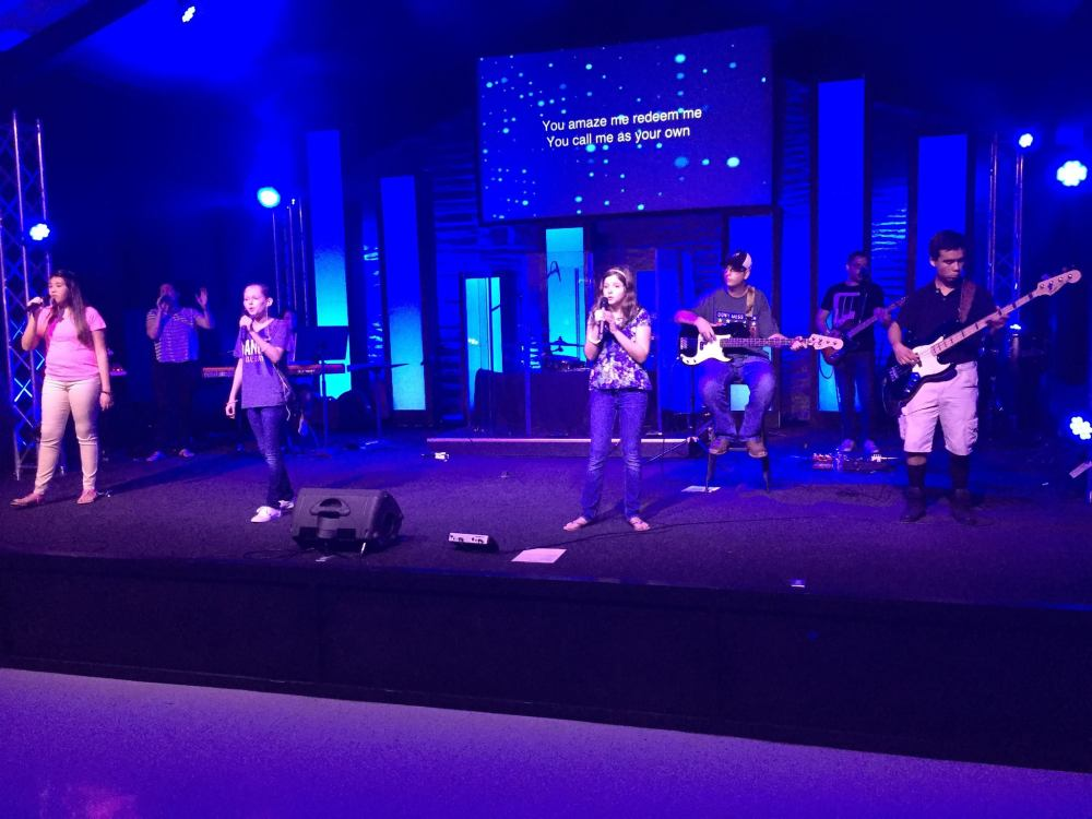 The Loft worship band leads Sunday morning worship at LifePoint San Antonio