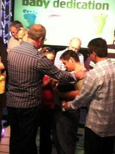 Pastor Danny Rivers Dedicating Isaiah
